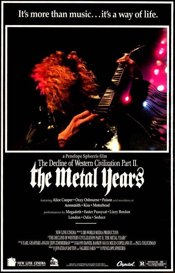 The Decline of Western Civilization Part II: The Metal Years, released in 1988, was the second film in the series.