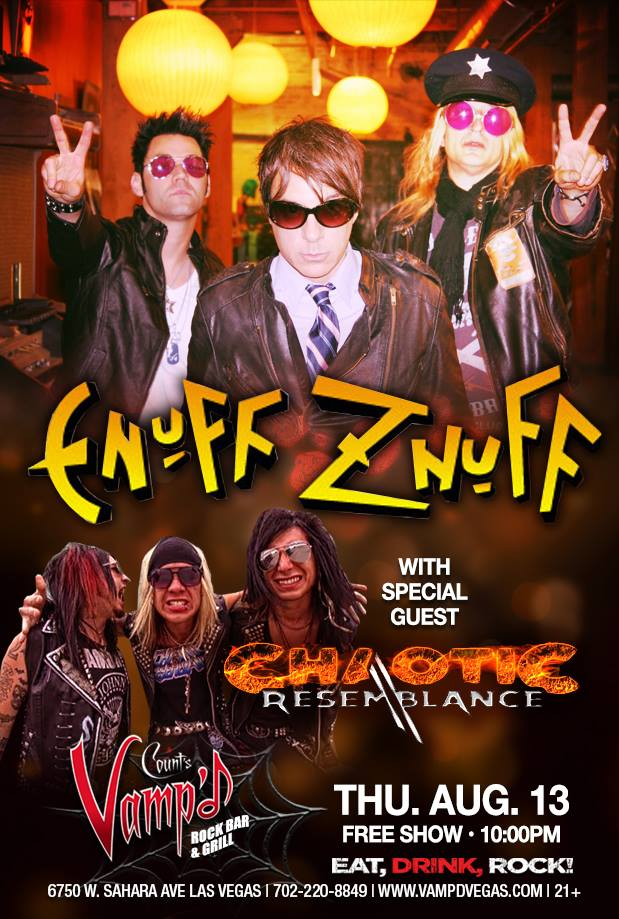 Enuff Z'Nuff played Vamp'd on August 13.