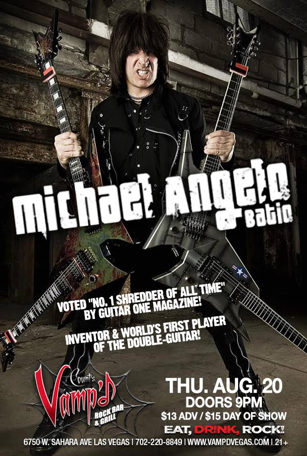 Michael Angelo Batio played Vamp'd on Thursday, August 20, 2015.