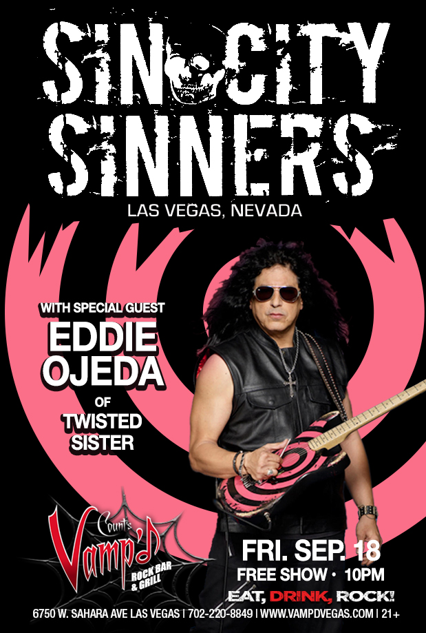 Sin City Sinners jammed with Eddie Ojeda of Twisted Sister, at Vamp'd on Friday, September 18, 2015