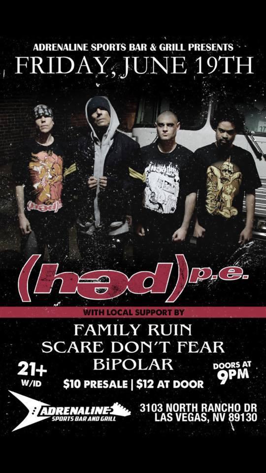 HED PE rocked Adrenaline on June 19, 2015