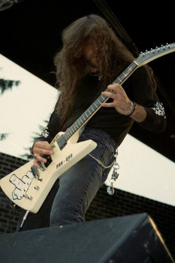 Guitarist Bobby Gustafson during the Overkill days.