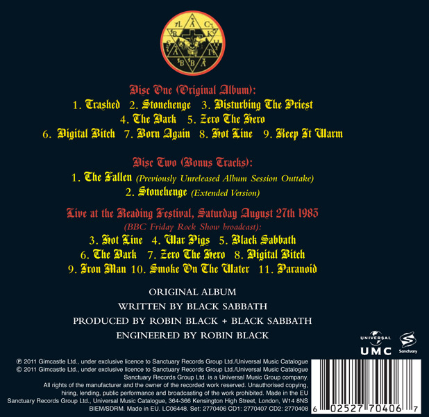 Tracklist for the two-disc Deluxe Edition release of the album.
