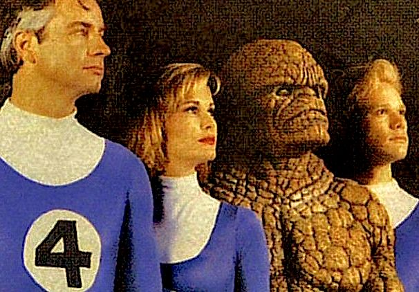 The Fantastic Four in their 1994 film incarnations.