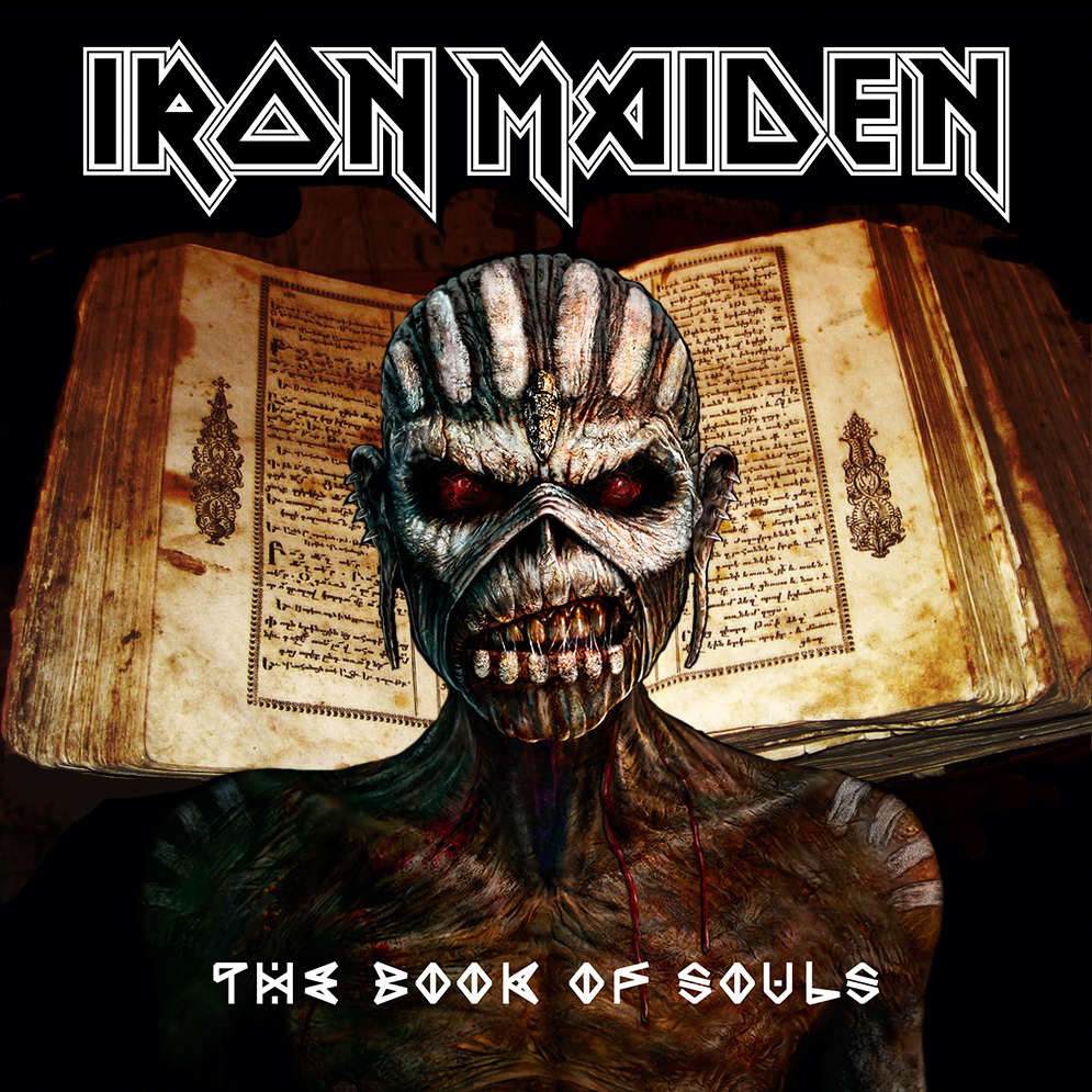 The Book of Souls arrives on CD next month. It will be the band's first double studio album, featuring two CDs worth of new material.