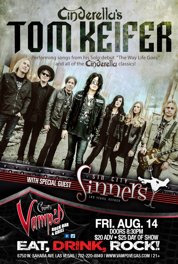 Tom Keifer played Count's Vamp'd on Friday, August 14, 2015.