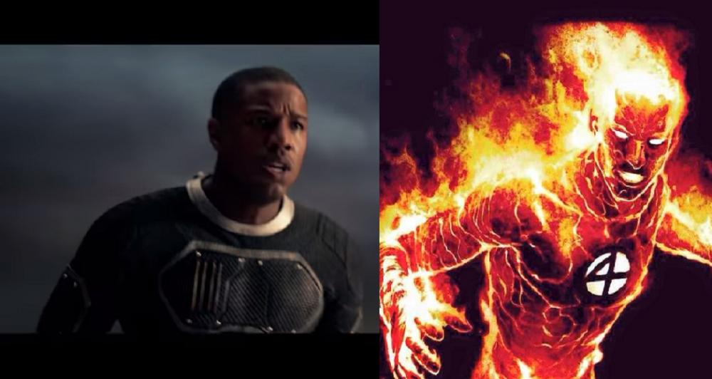 Michael B. Jordan portrays Johnny Storm/Human Torch.