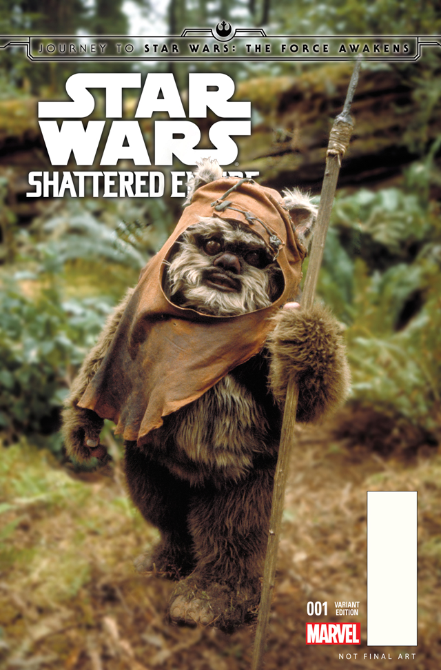 "As with most of Marvel's Star Wars comics, this one is being printed with a number of ""Variant"" covers, including this one featuring Wicket the Ewok."