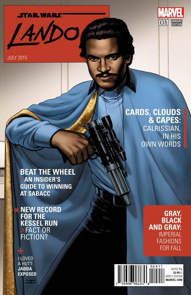 "Like other Star Wars Marvel comics, this one was produced with a number of variant covers, including this humorous ""magazine cover"" one."