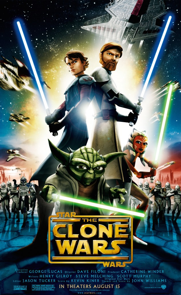 Star Wars: The Clone Wars began airing on Cartoon Network in 2008, following the theatrical pilot movie.
