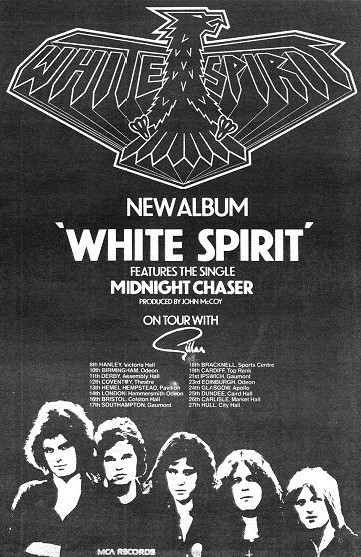 Rare promo ad for the band's album release, and a tour with Gillan.