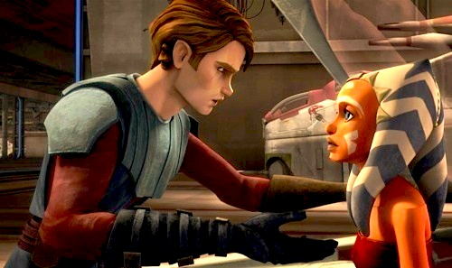 A major plot point of the series is Anakin Skywalker, after becoming a full Jedi Knight, taken on a Padawan learner of his own, Ahsoka Tano.