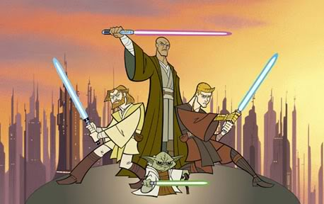 Star Wars: Clone Wars, animated and directed by Genndy Tartakovsky, aired on Cartoon Network from 2003-2005.