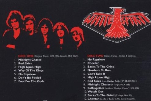 Rear cover of the 2005 remastered 2CD set. Note the entire second disc of rare bonus tracks.