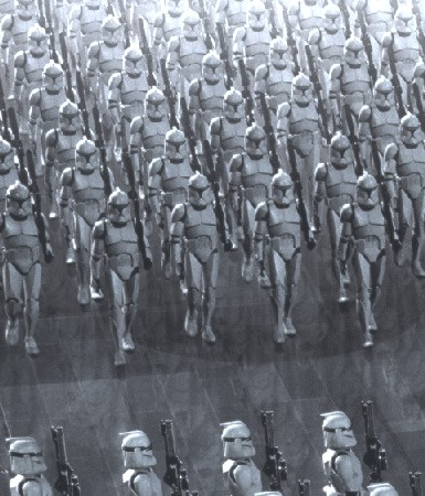 Many episodes revolve around the Clone Army of the Republic, for whom the conflict is named.