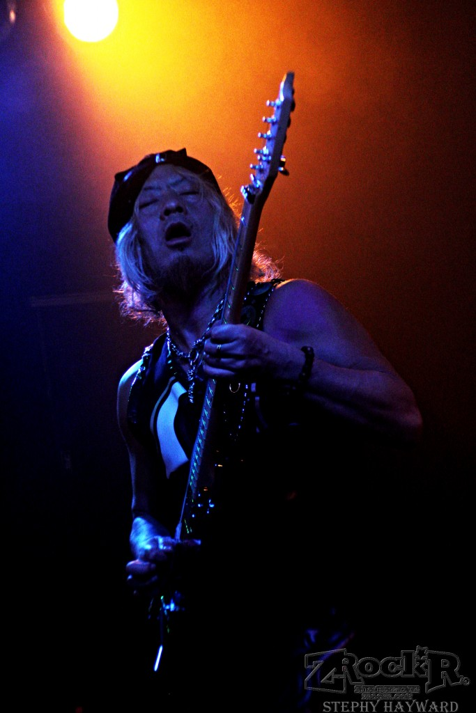 "Loudness guitarist Akira Takasaki during ""Heavy Chains""."