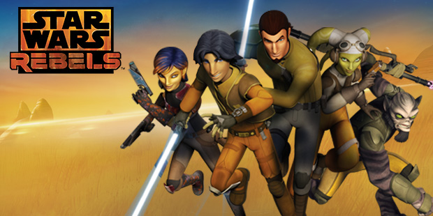 The heroes of Star Wars Rebels. From left to right - Sabine Wren, Ezra Bridger, Kanan Jarrus, Hera Syndulla, and Zeb Orrelios.