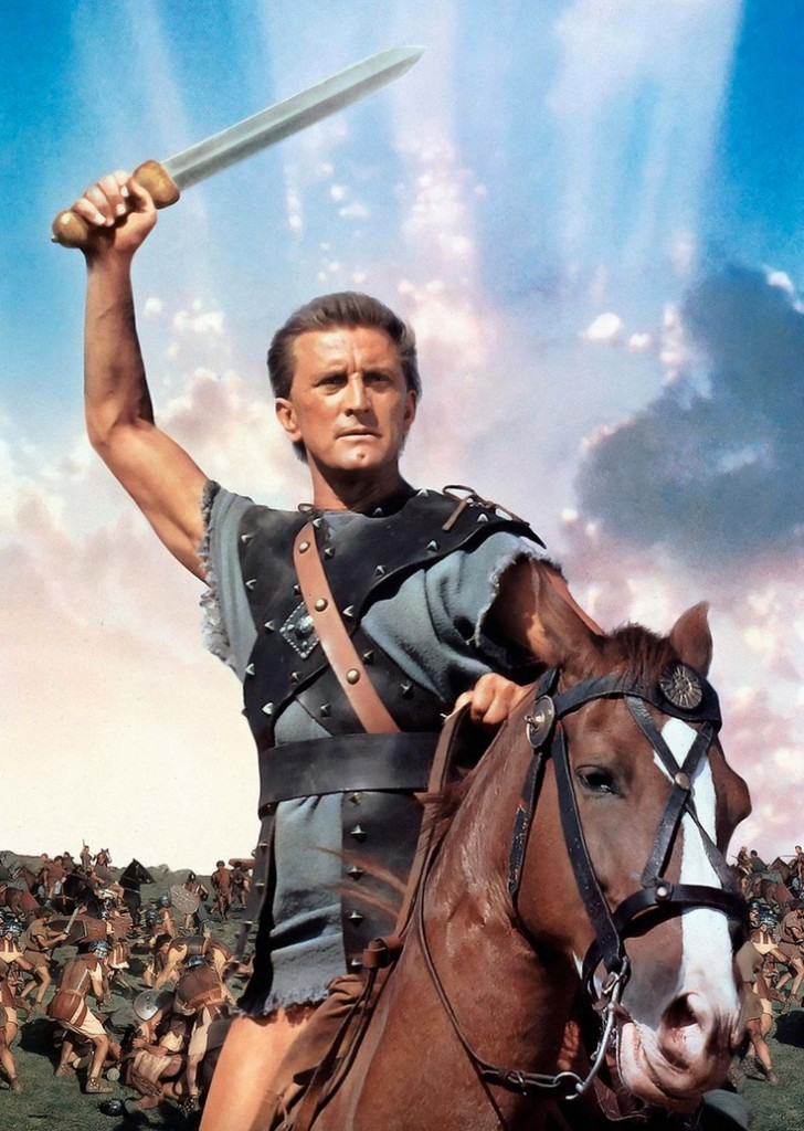 Kirk Douglas stars as Spartacus, in one of the defining roles of his career.