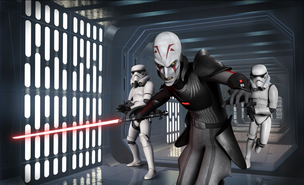 One of the chief villains introduced in Season One of Star Wars Rebels is the Inquisitor, a villain trained in the Dark Side of the Force.