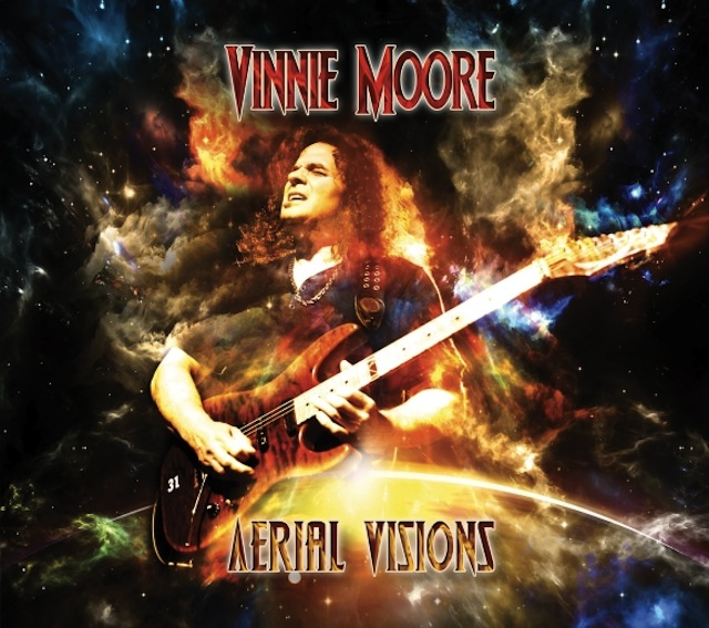 Aerial Visions is Vinnie Moore's latest instrumental solo album.
