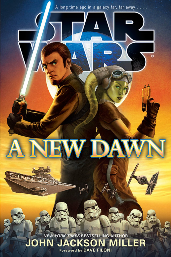 A New Dawn is written by John Jackson Miller, and takes place immediately prior to the Star Wars Rebels television series.