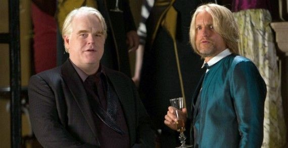 Plutarch Heavensbee (the late Philip Seymour Hoffman) and Haymitch Abernathy (Woody Harrelson) are less screen time here than in previous outings, but steal the show in their respective scenes.