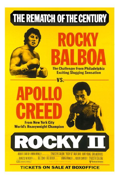 Rocky II was released in 1979. The sequel's classic poster was done in the format of old boxing promos.