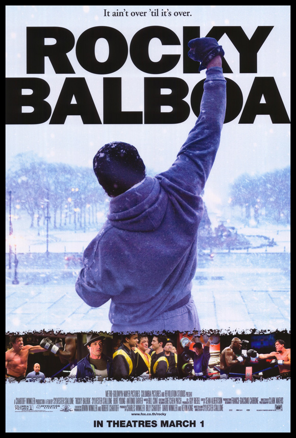 Rocky Balboa hit theaters in late 2006, 14 years after Rocky V (note that the poster pictured is from a foreign release, which occurred a few months later than the American one).