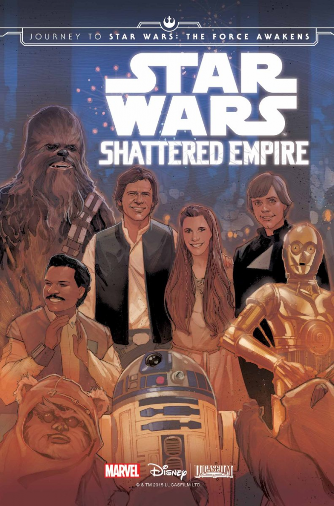 Shattered Empire picks up where Return of the Jedi left off. The trade paperback combines the four issues with two bonus comics.