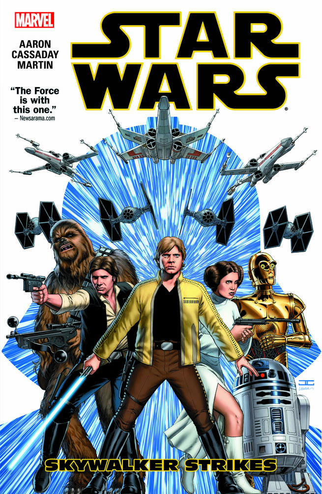"""Skywalker Strikes"" comprises the first story arc of the Star Wars comic series."