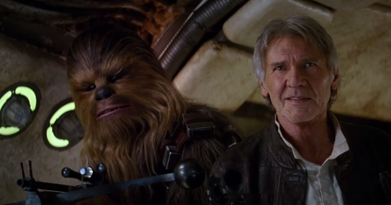 Of course, we get several of our old favorite characters returning, including Harrison Ford as Han Solo.