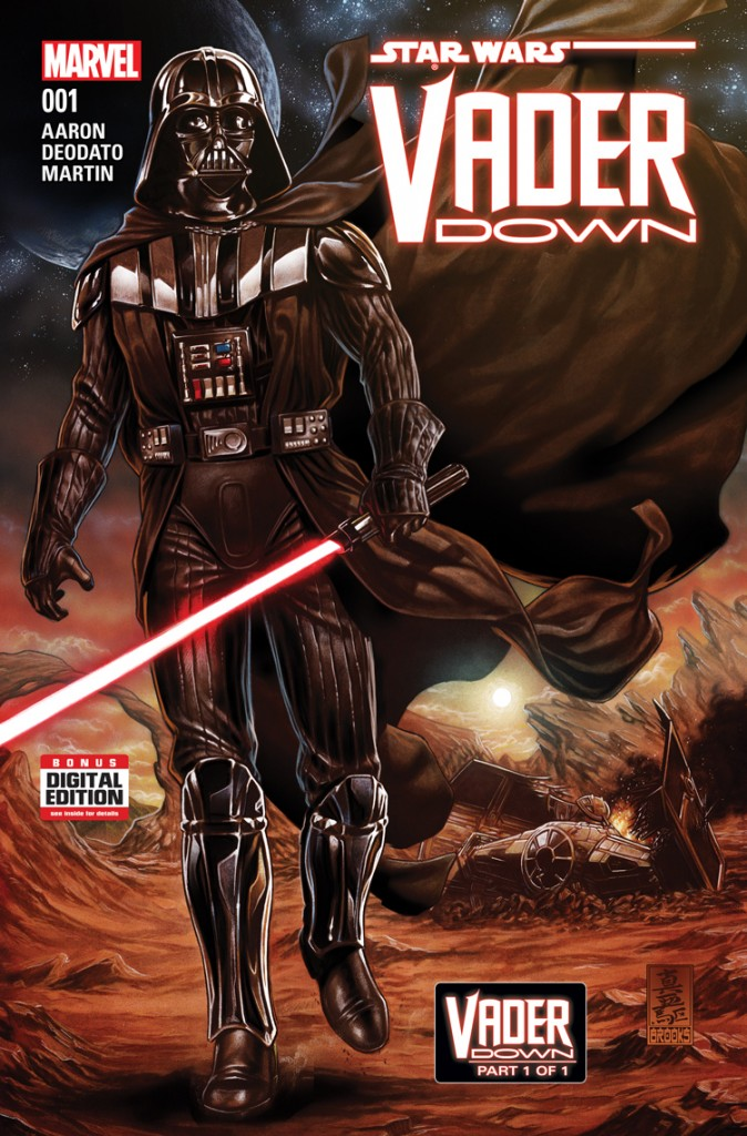 Four issues in, Vader Down is a six-part crossover between Star Wars and Darth Vader. The trade paperback is coming in 2016.