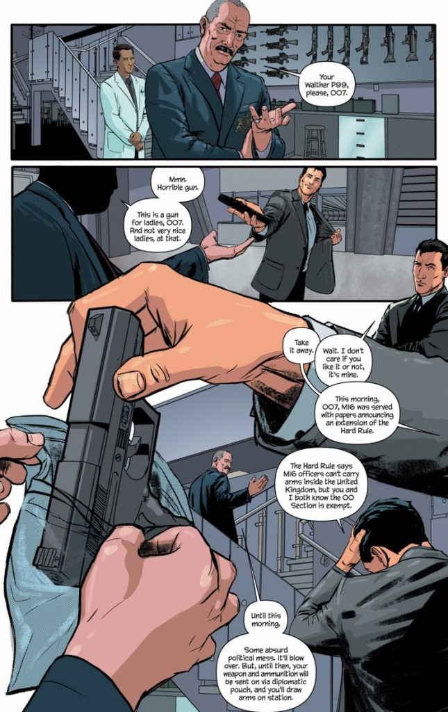 Of course, even our favorite 00 agent has to deal with modern-day security restrictions that make his job and life tougher.