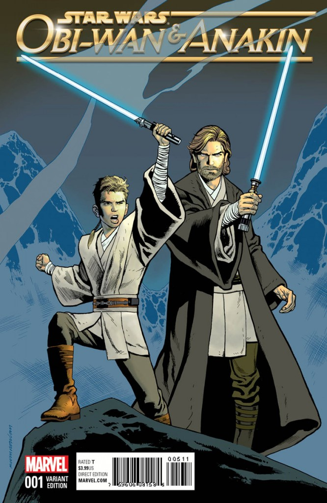 Obi-Wan and Anakin, like other Star Wars comics, is being released with a number of collectible variant covers.