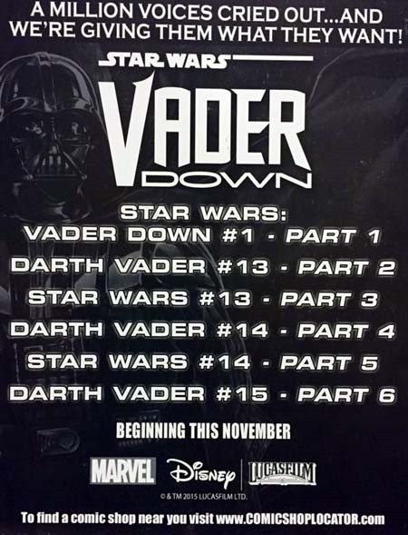 The Vader Down crossover comprises the comics listed above.