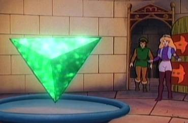 The show's version of the Triforce of Wisdom.