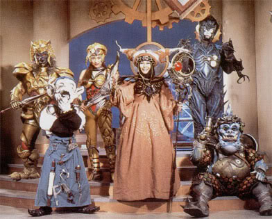 Rita Repulsa and her evil henchmen.