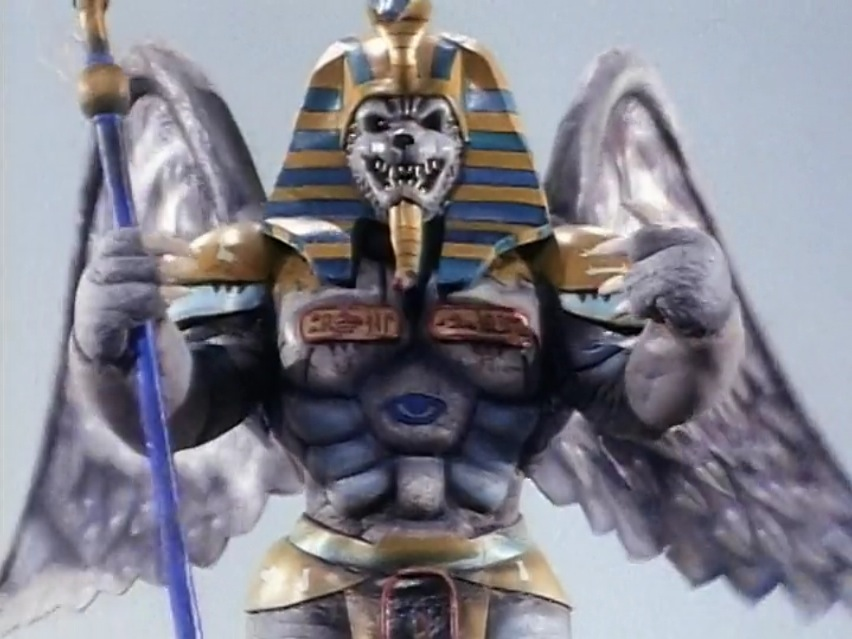 Rita regularly has her monster making henchman Finster create new creatures to destroy the Power Rangers. King Sphinx pictured here is just one of the many.