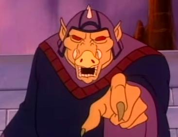 Len Carlson voices the villainous wizard Ganon, the series' chief villain.