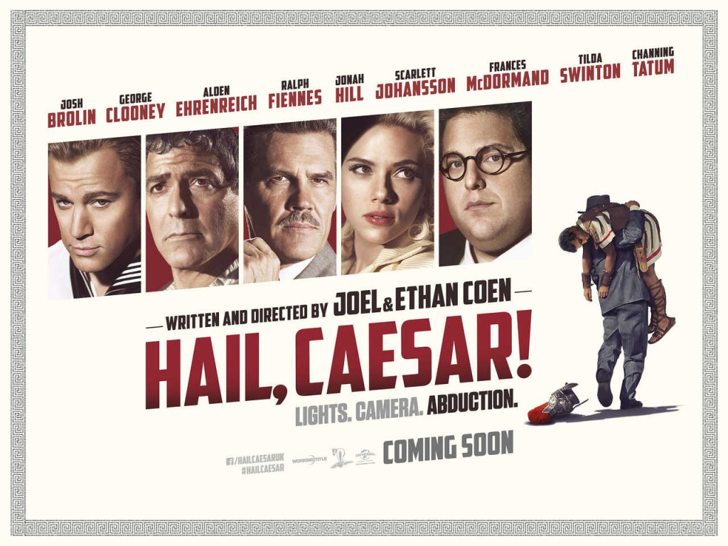 Hail, Caesar! is the latest film from the Coen Brothers, and it stars an ensemble cast, as seen here.