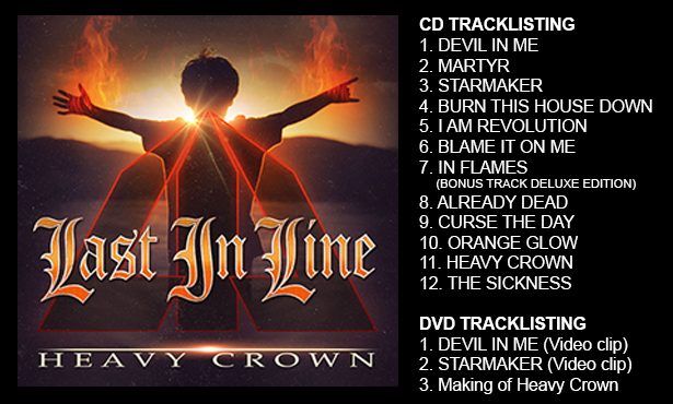 Tracklist for Heavy Crown.
