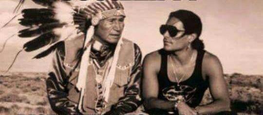 Duke with one of the tribal elders- Duke is of Cherokee heritage.
