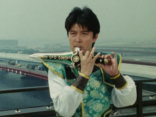 The mysterious Burai appears later in the series. But who is he, and what is his relationship to the Zyurangers?