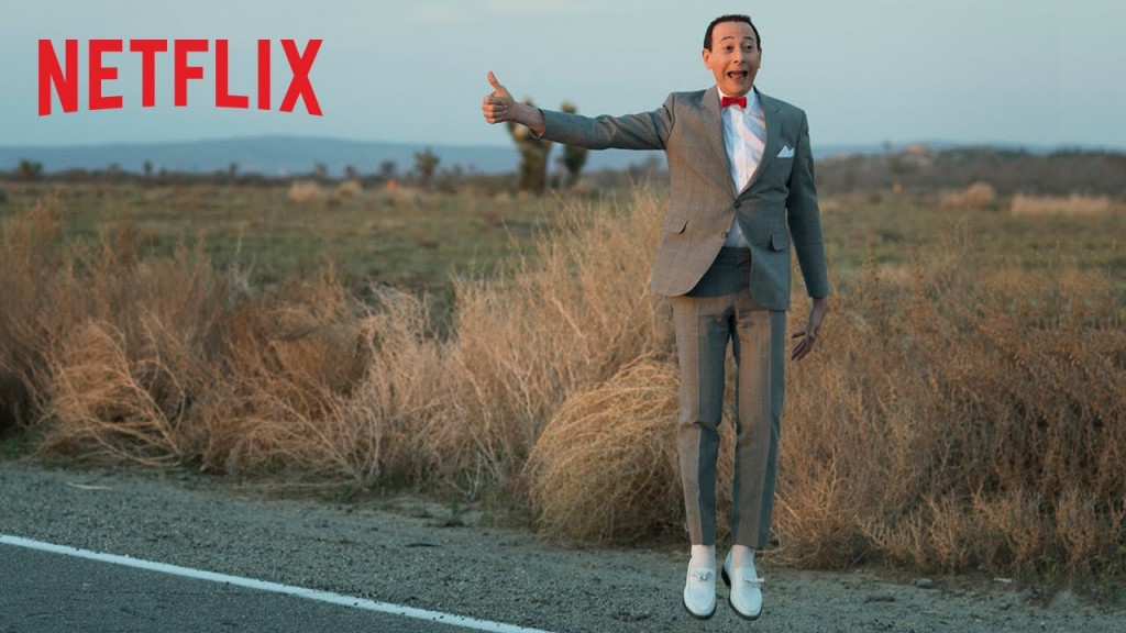 Pee-Wee's Big Holiday, released direct to Netflix, is the latest film to feature the Pee-Wee Herman Character.