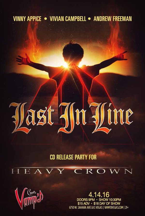 Last in Line held a CD release party/live concert at Count's Vamp'd on Thursday, April 14, 2016.