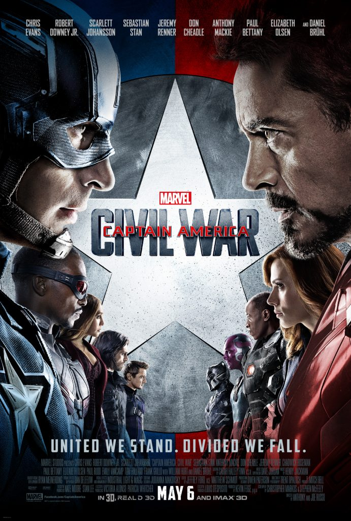 Captain America: Civil War is the thirteenth film in the Marvel Cinematic Universe.