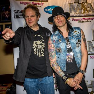 Eddie Trunk and Stacey Blades were there for the evening's events.