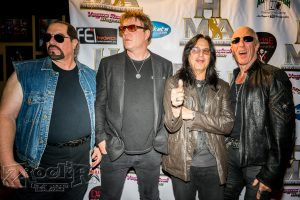 Twisted Sister arrive at the awards show