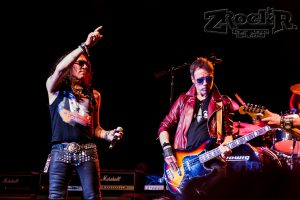 The founder of RATT n Roll- Stephen Pearcy on stage with his band- still Dangerous ( but worth the risk)