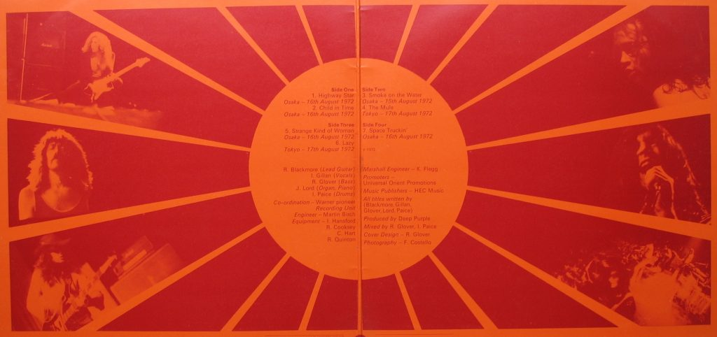 Deep Purple's Inner gatefold from the original vinyl album.